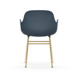 Form Armchair: Brass
