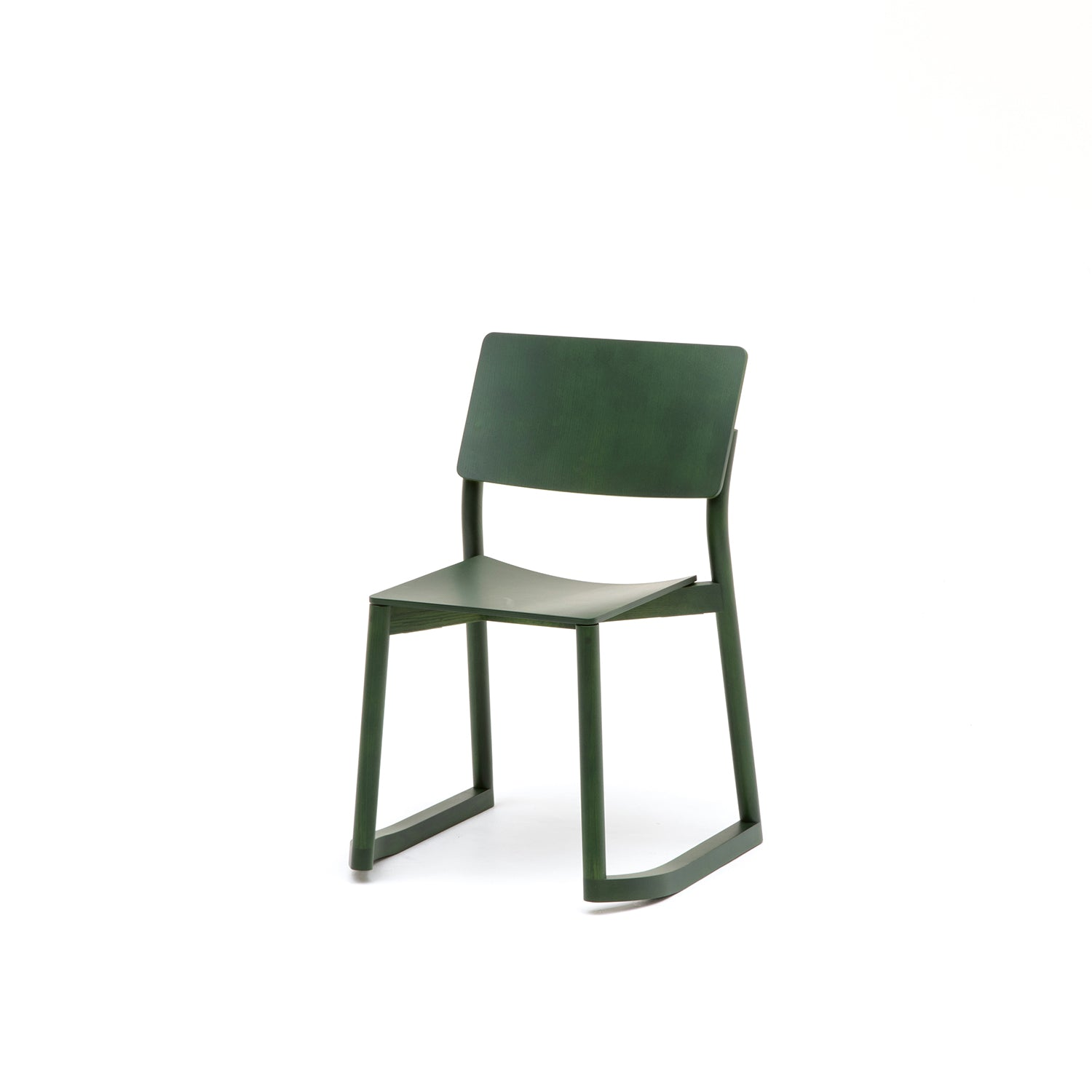 Panorama Chair With Runners: Moss Green Oak