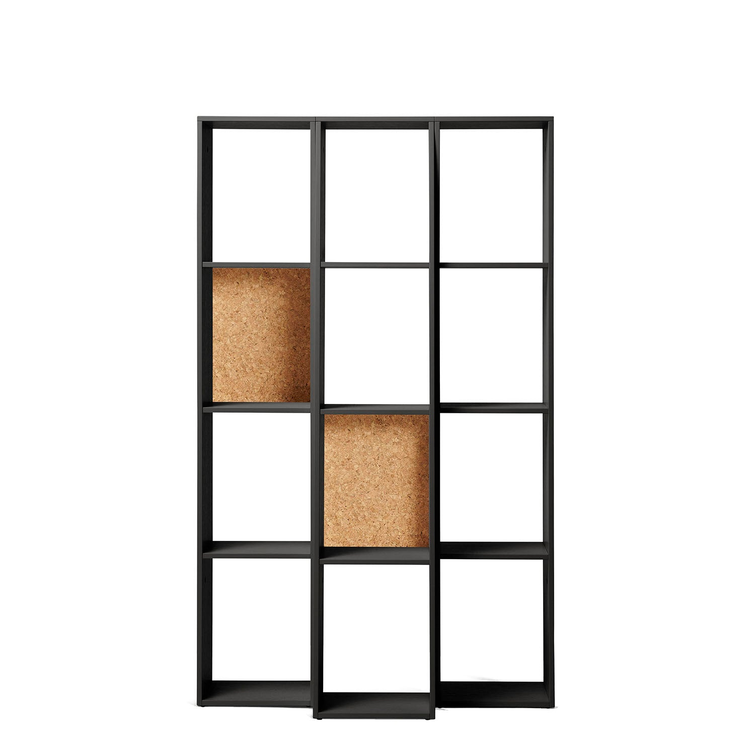 Endless Shelf Unit: Low + Black Painted Oak