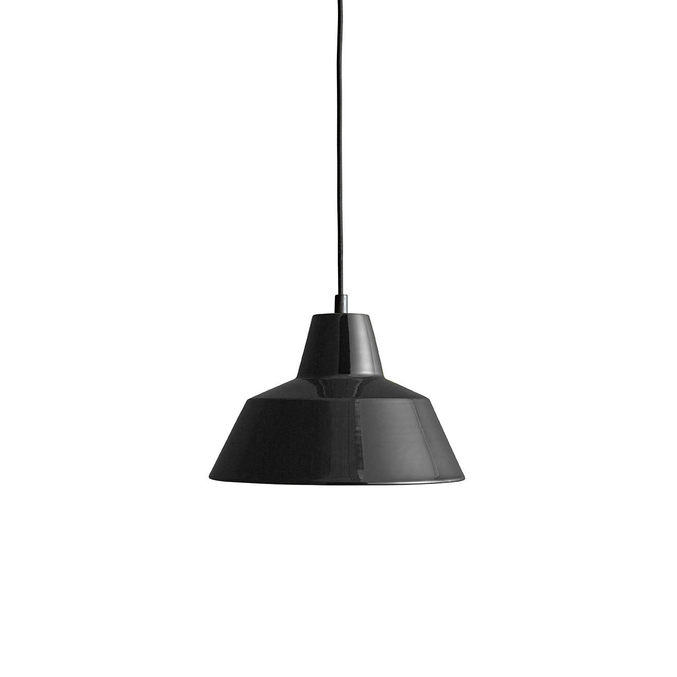 Workshop Pendant Lamp W2: Shiny Black