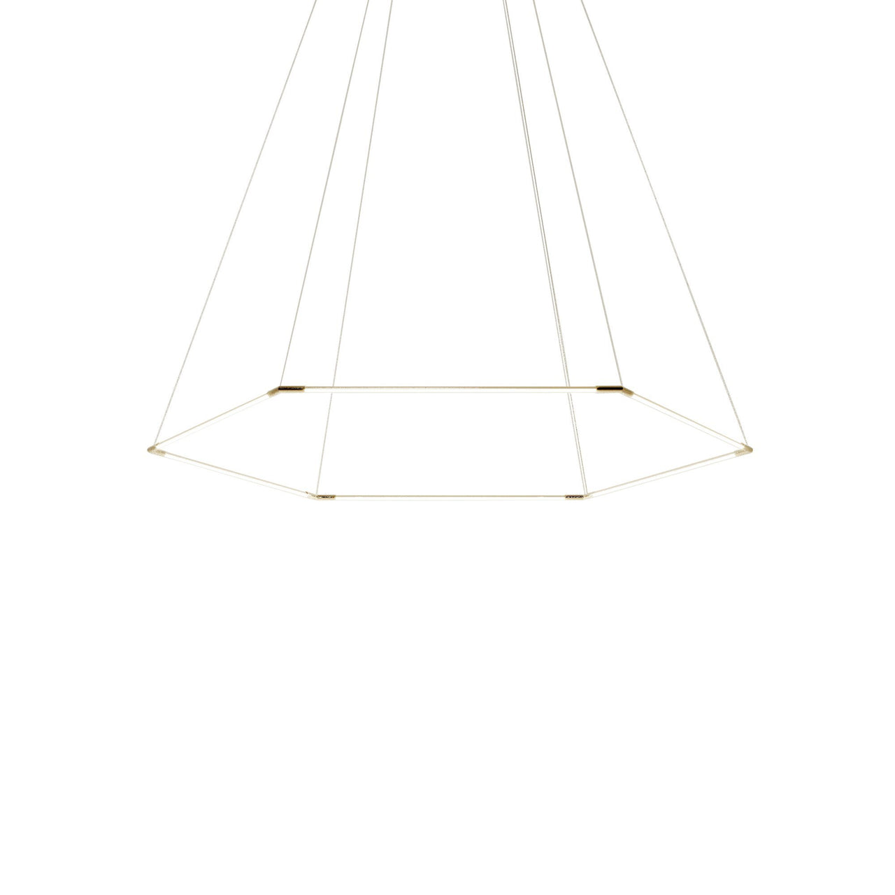 Thin Primaries Hexagon: Large + Satin Nickel