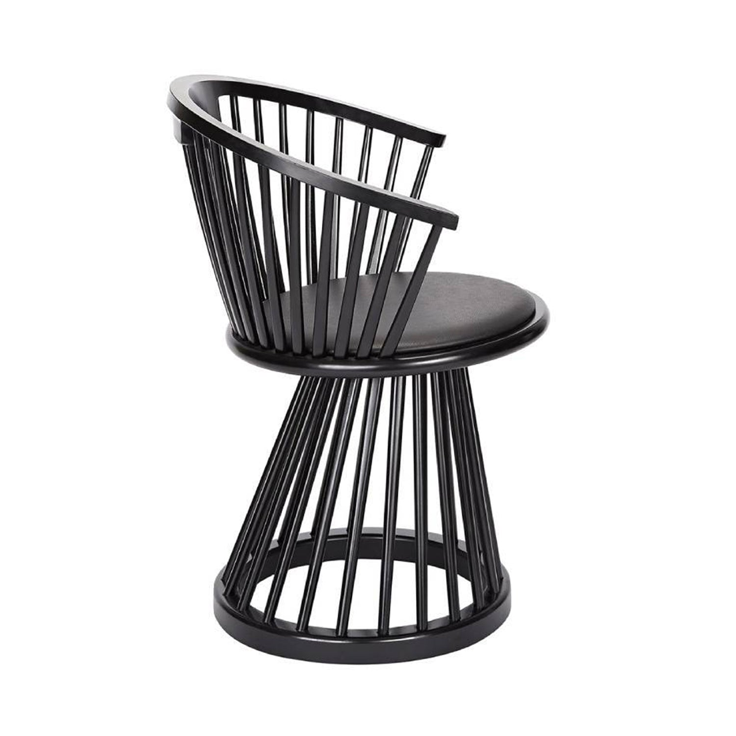 Fan Dining Chair: Black