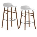 Form Bar + Counter Stool: Walnut Legs