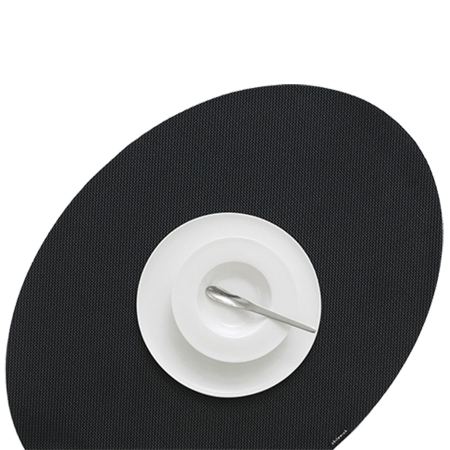 OnEdge Placemat + Coaster Set: Black