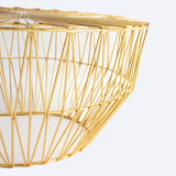 The Drum Ottoman/Table: Gold or Copper: No Top + Gold
