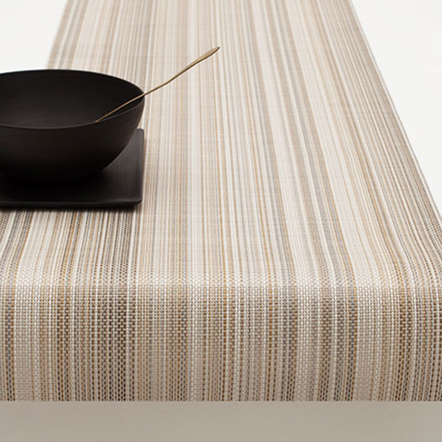 Multi Stripe Placemats + Table Runners: Runner + Champagne