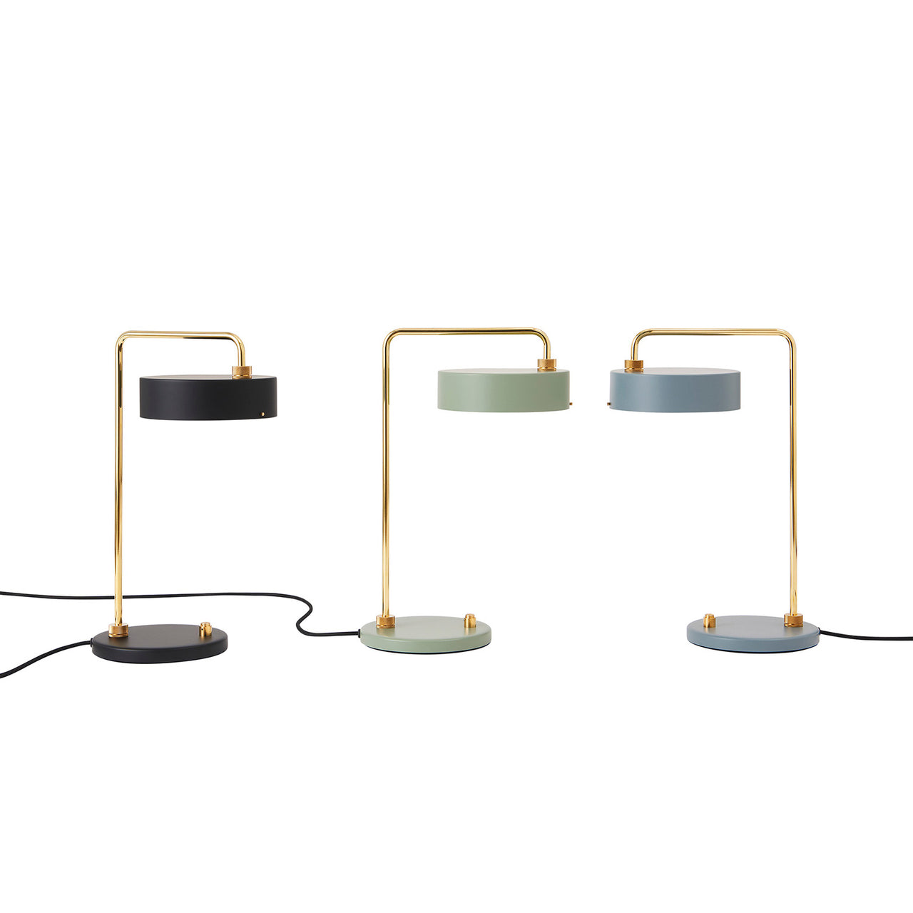 Petite Machine Light: Table 01: Deep Black + Moss Green + Slate