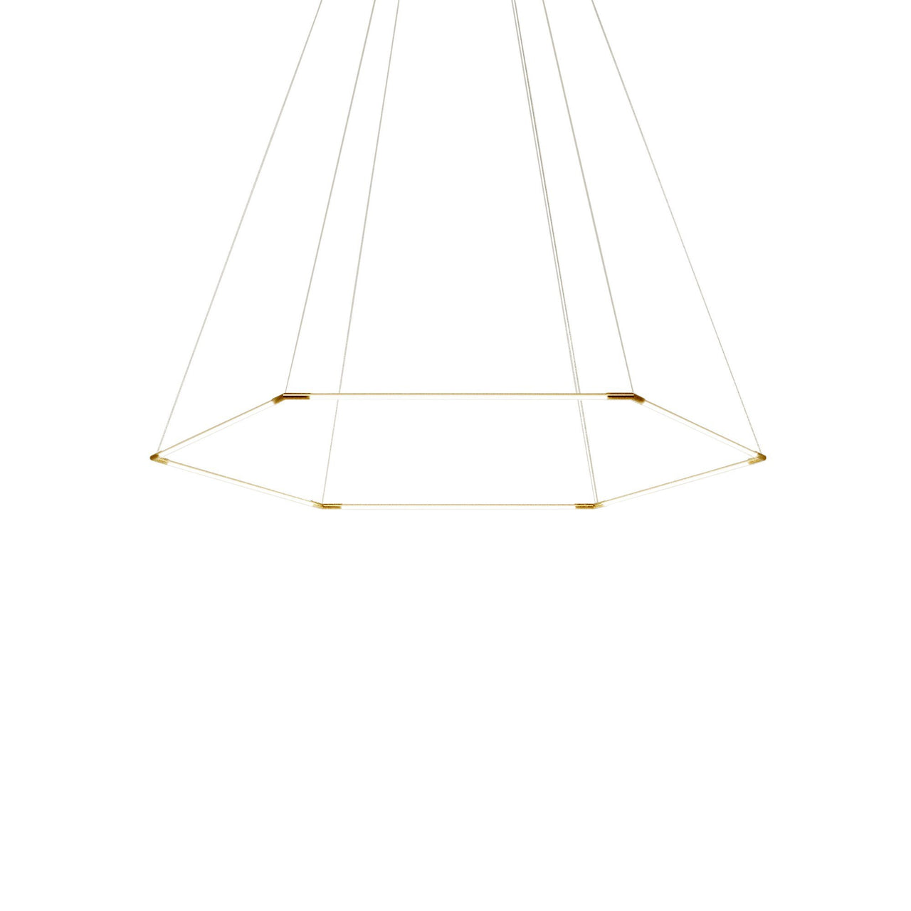 Thin Primaries Hexagon: Large + Satin Brass