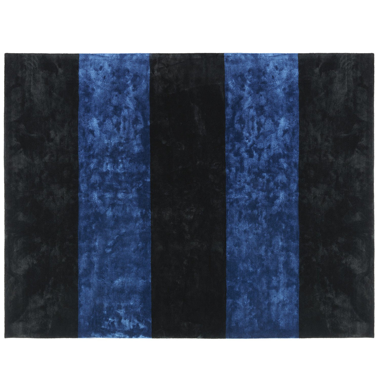 Pavilion Carpet: Large + Black + Dark Blue