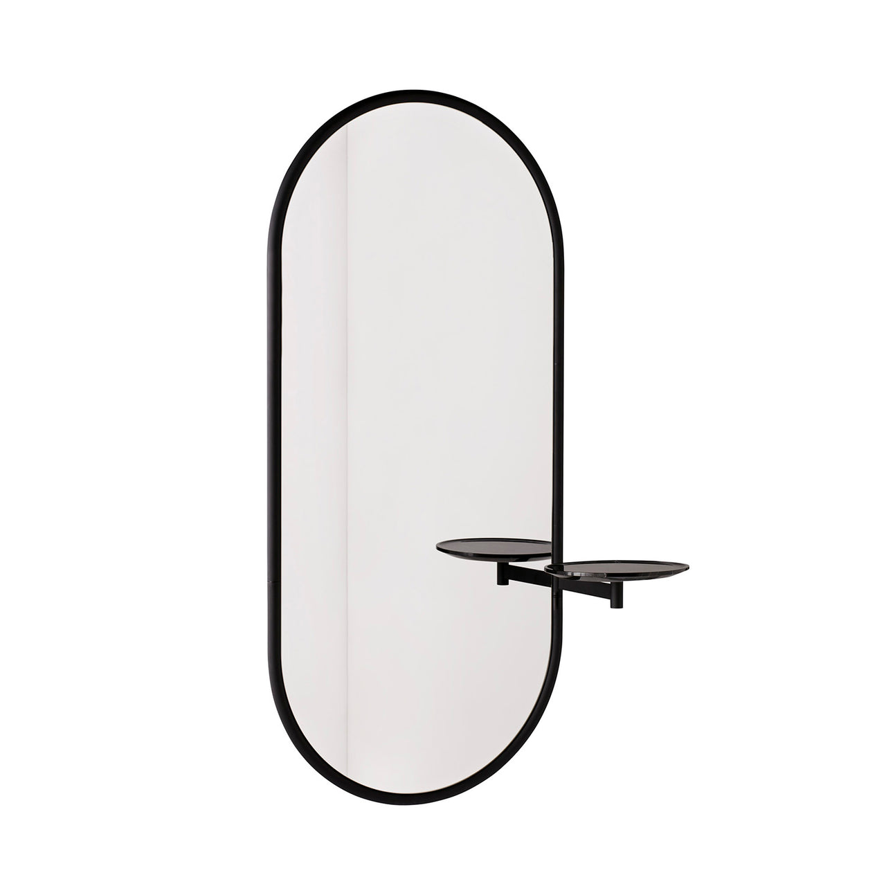 Michelle Wall Mirror: Black + Black Marble