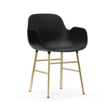 Form Armchair: Brass: Black