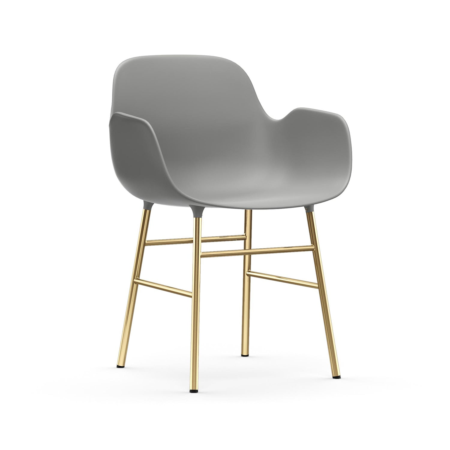 Form Armchair: Brass: Grey