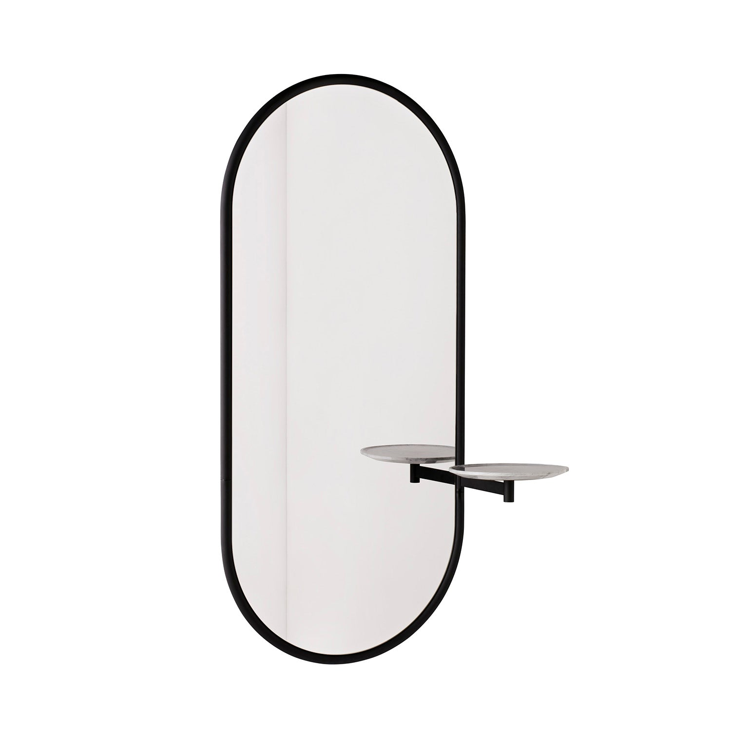 Michelle Wall Mirror: Black + White Marble