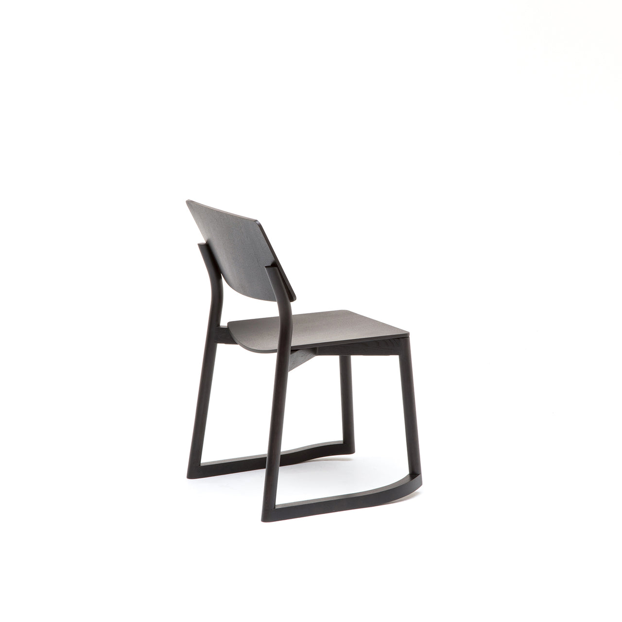 Panorama Chair With Runners: Black Oak