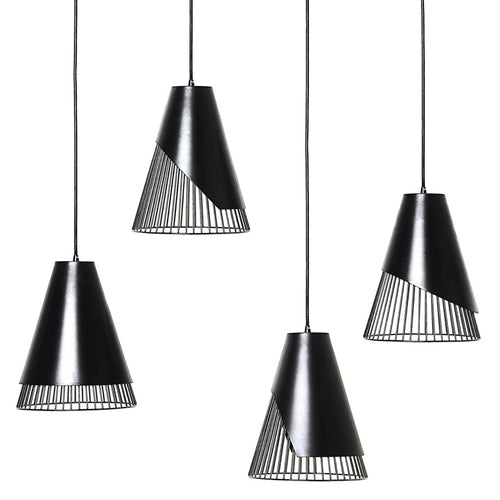 Conic Section Pendant Light: Hyperbola + Parabola + Ellipse + Circle