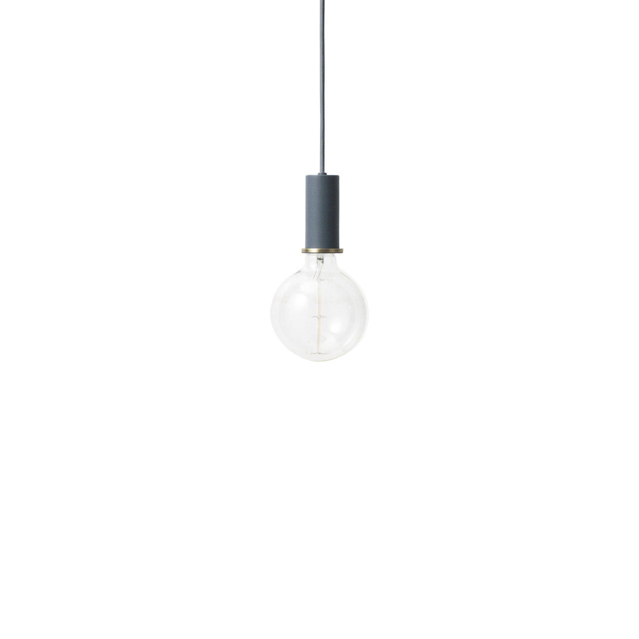 Collect Lighting: Pendant + Low + Dark Blue
