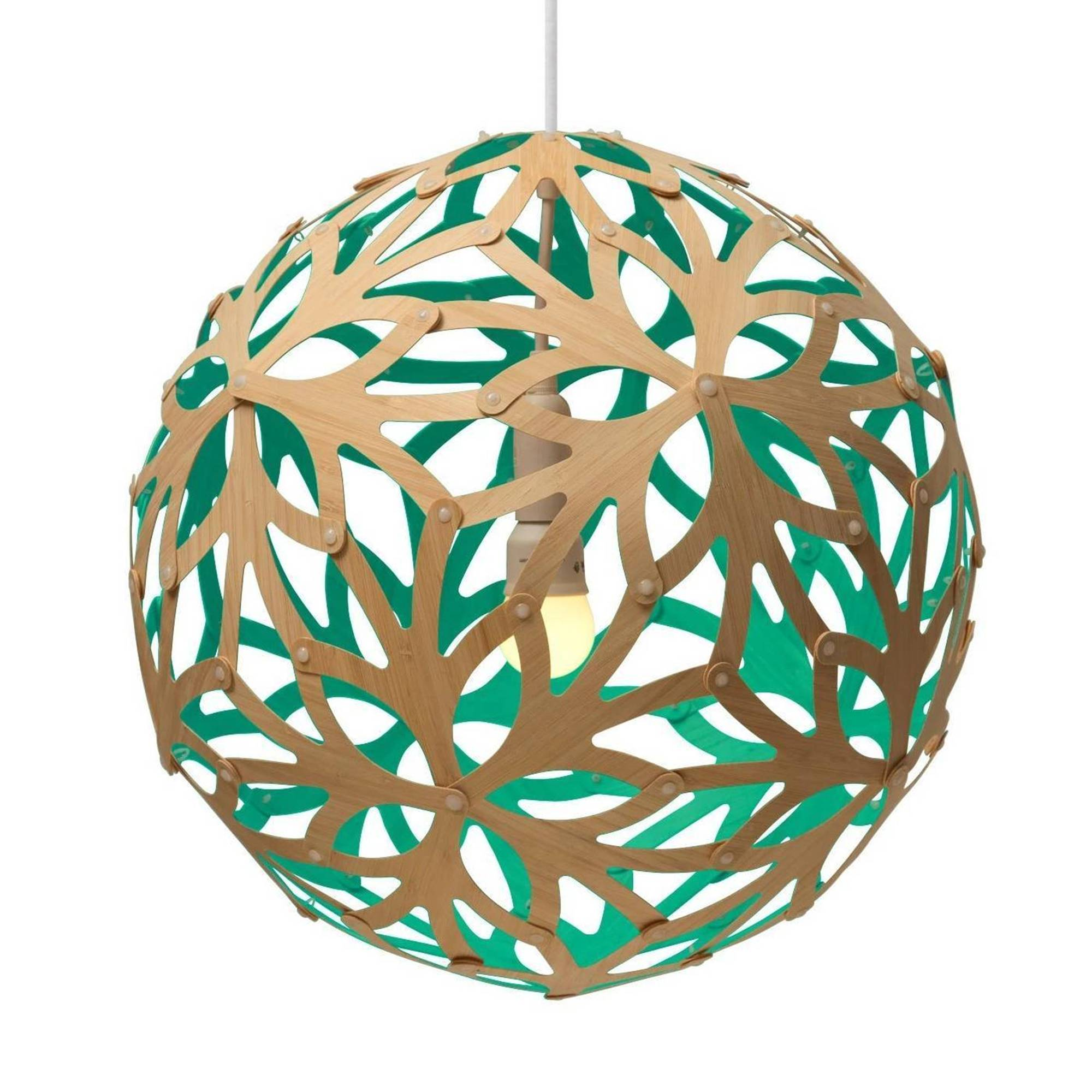 Floral Pendant Light: 1200 + Aqua