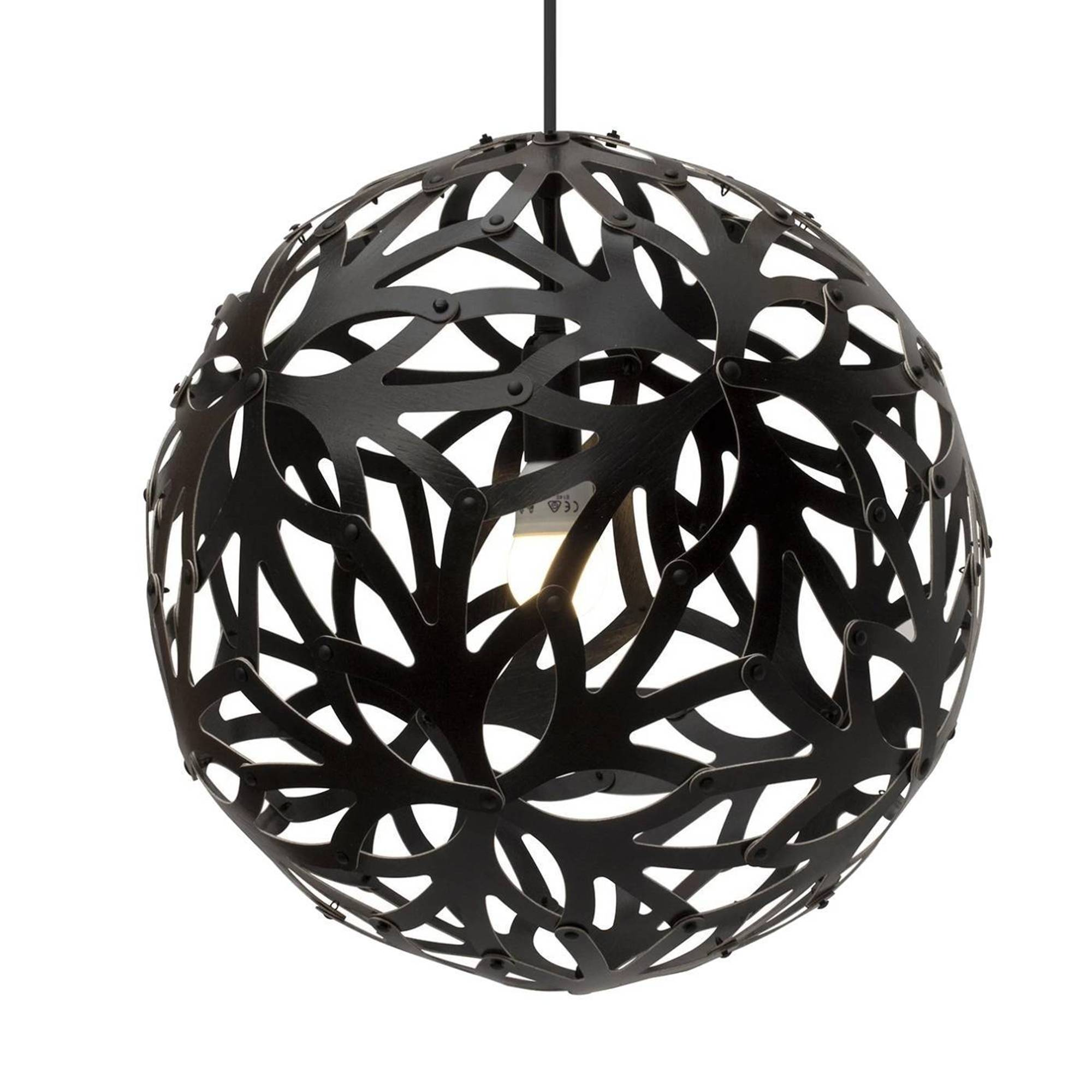 Floral Pendant Light: 1200 + Black Two Sides