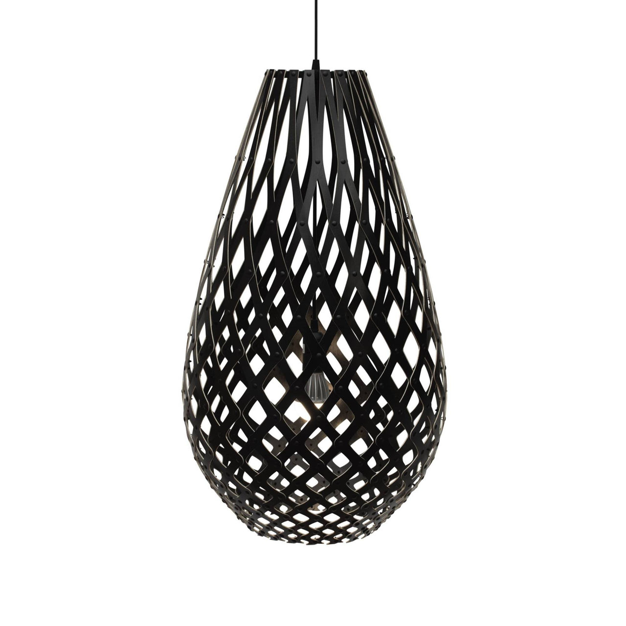 Koura Pendant Light: 1000 + Black Two Sides