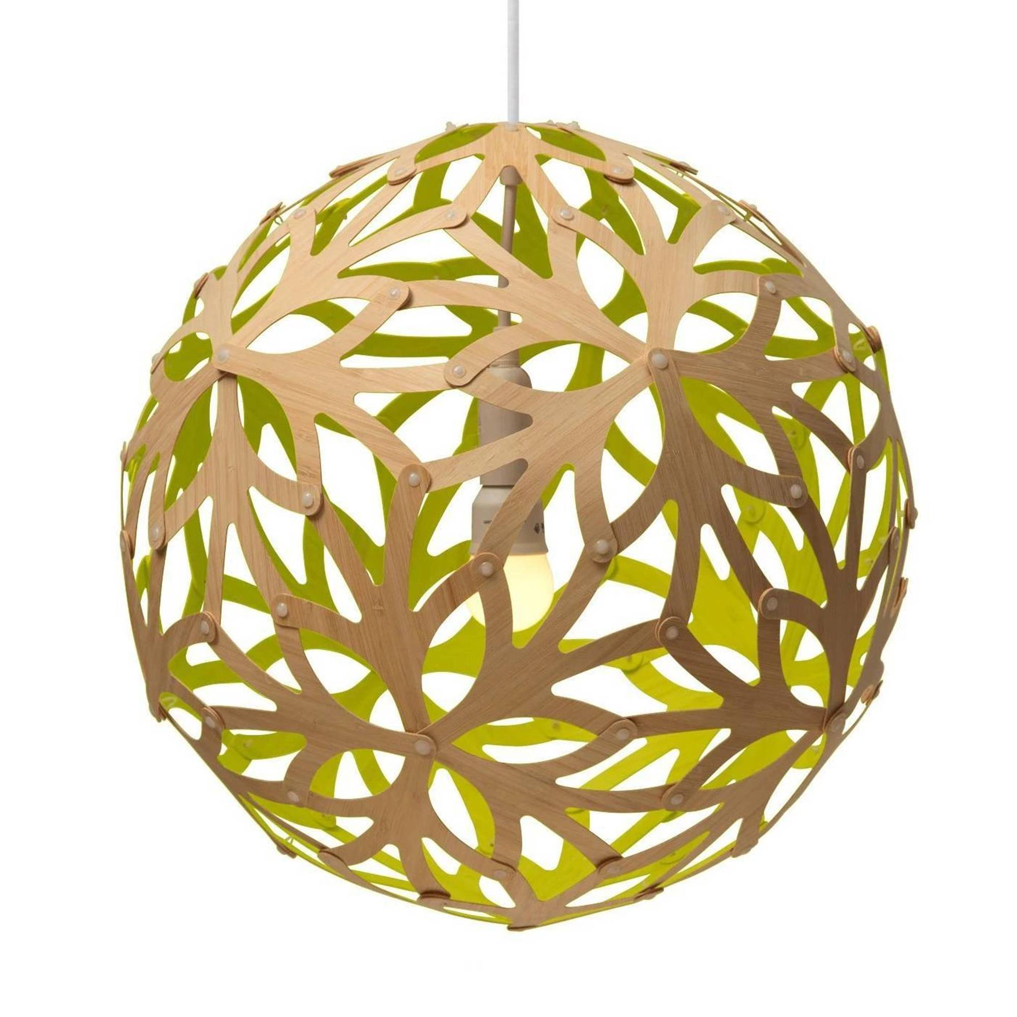 Floral Pendant Light: 1200 + Lime
