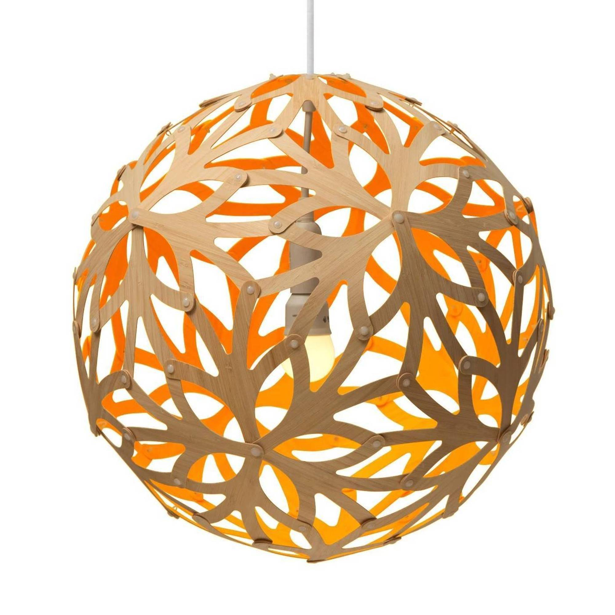 Floral Pendant Light: 1200 + Orange