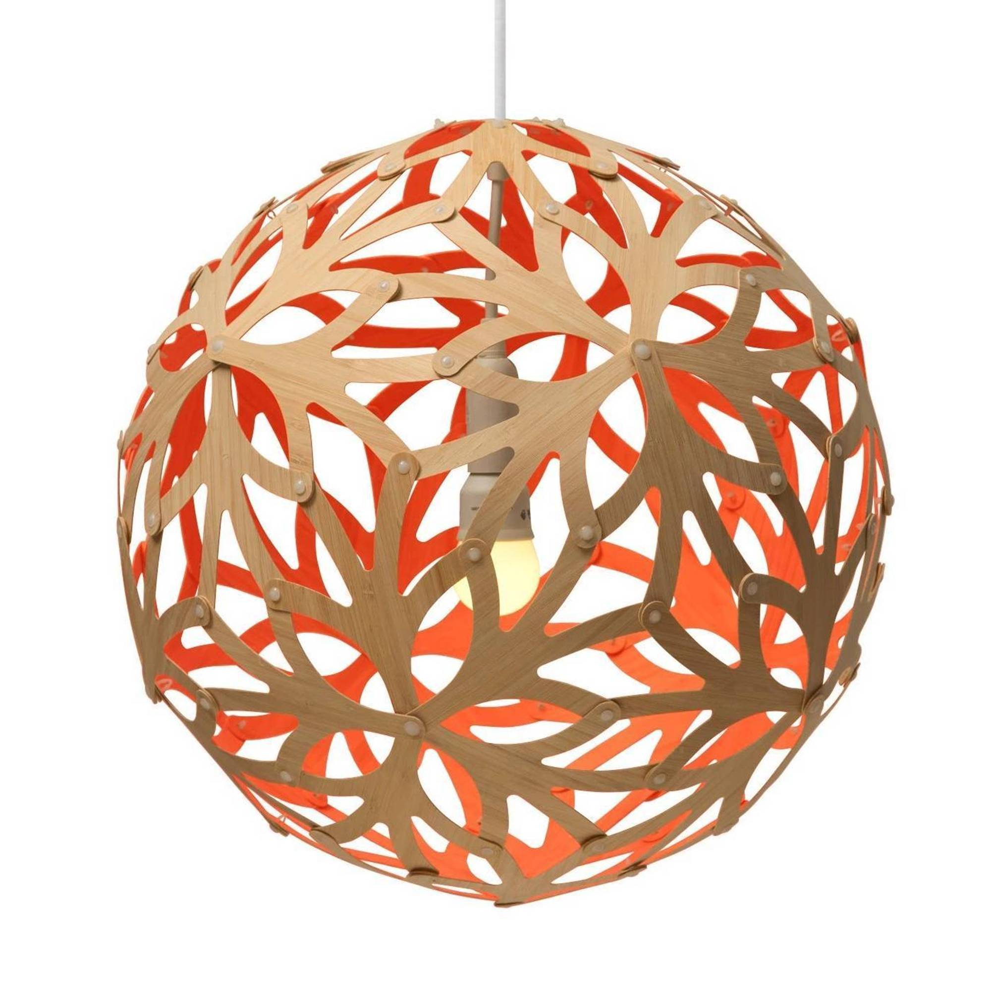 Floral Pendant Light: 1200 + Red