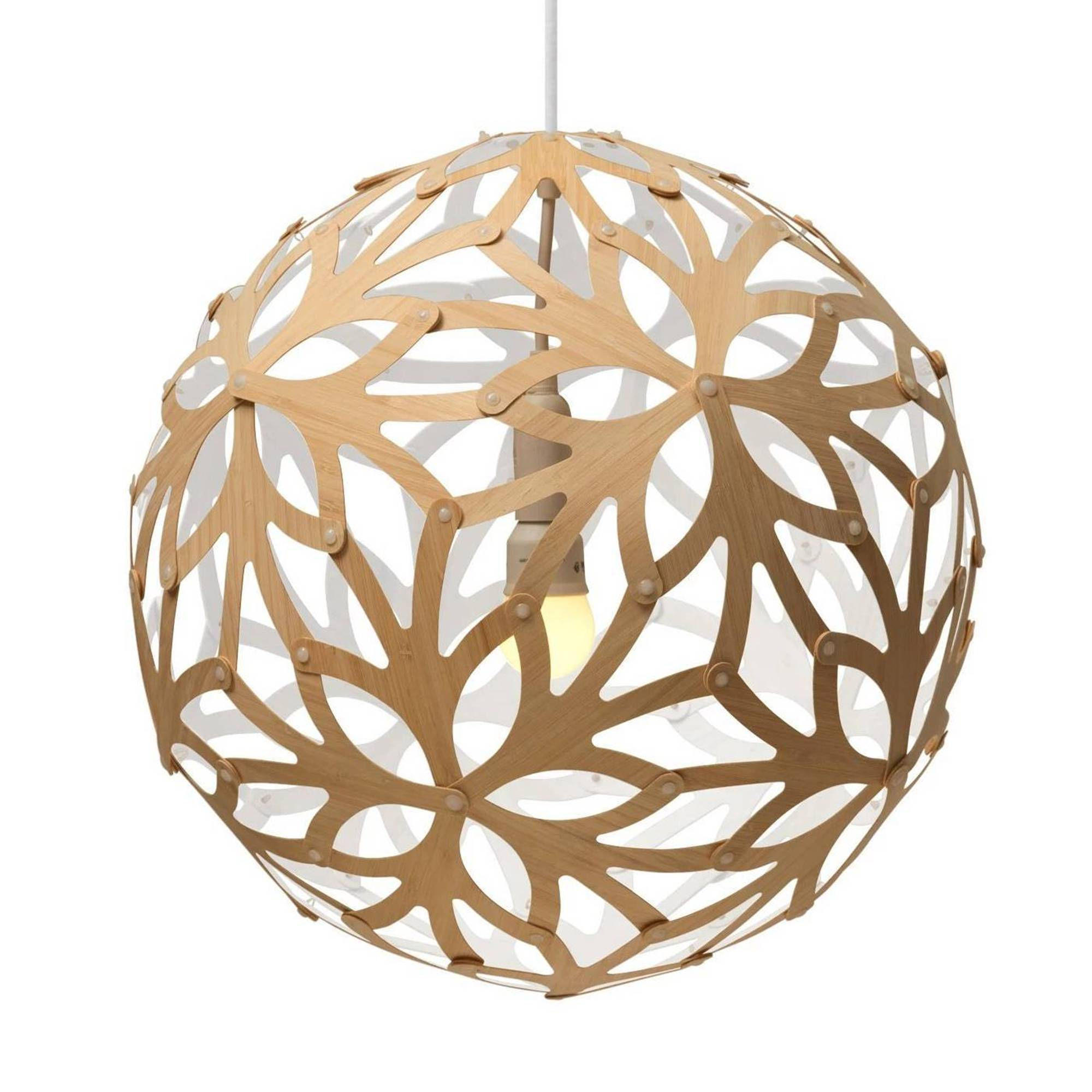 Floral Pendant Light: 1200 + White