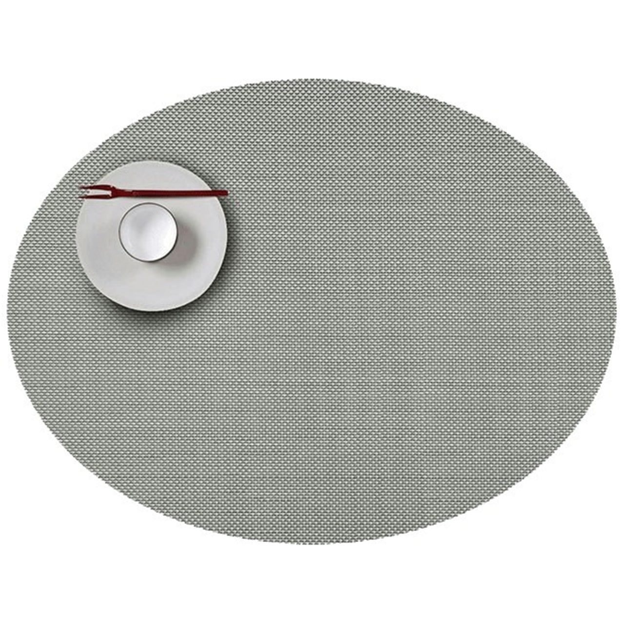 Mini Basketweave Round Placemats: Oval + Aloe