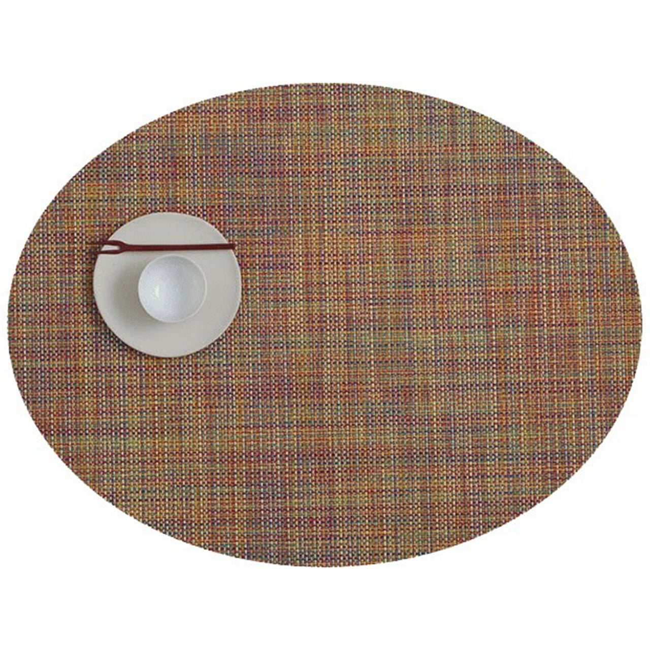 Mini Basketweave Round Placemats: Oval + Confetti