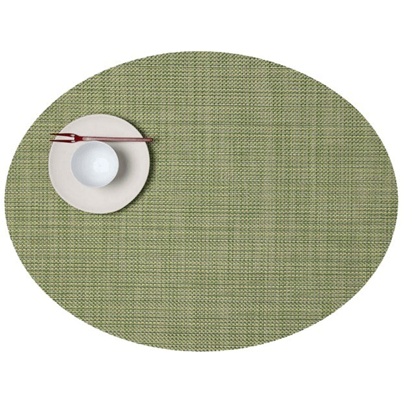 Mini Basketweave Placemats: Oval + Dill