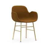 Form Armchair: Brass Upholstered