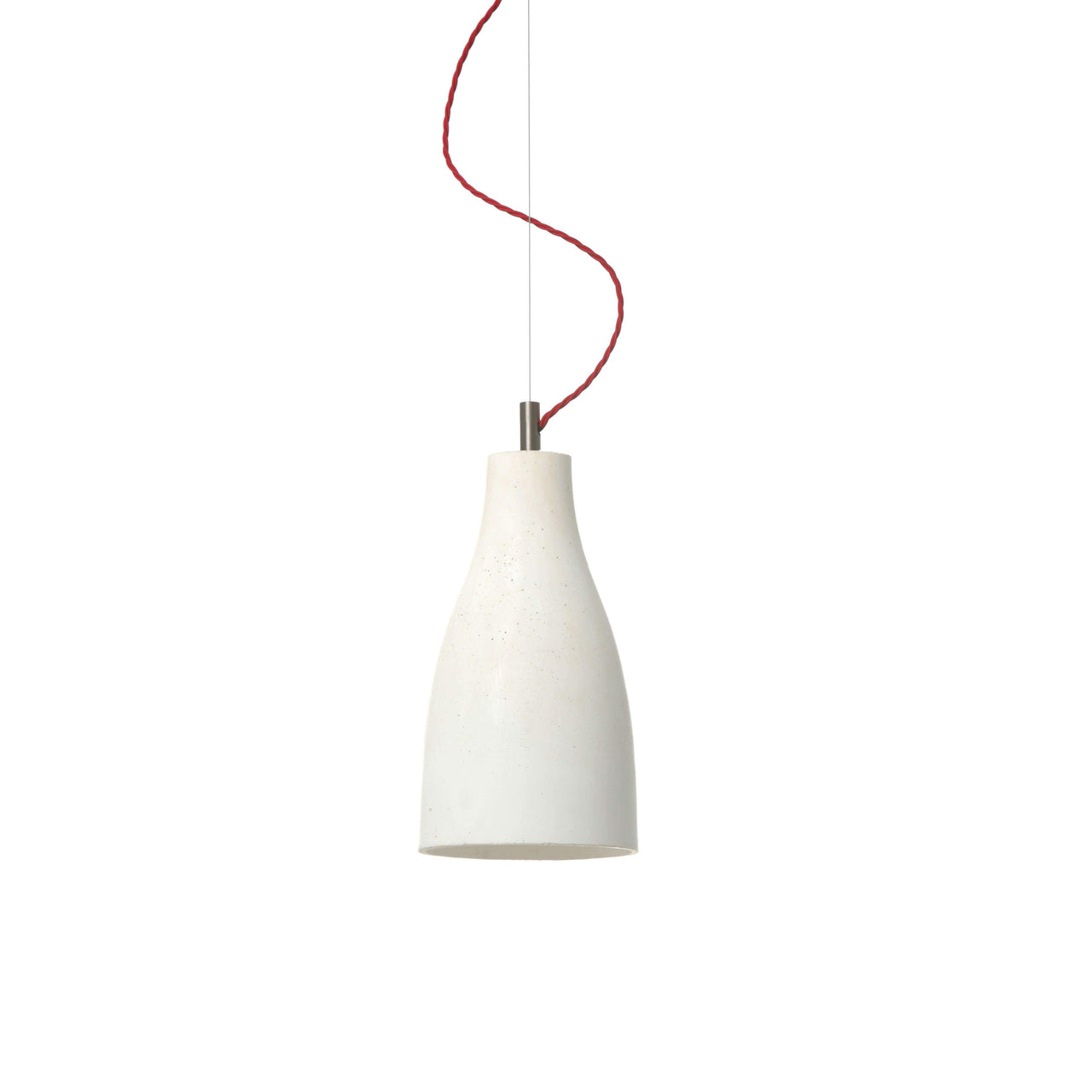 Heavy Pendant Light Tall: White + Red