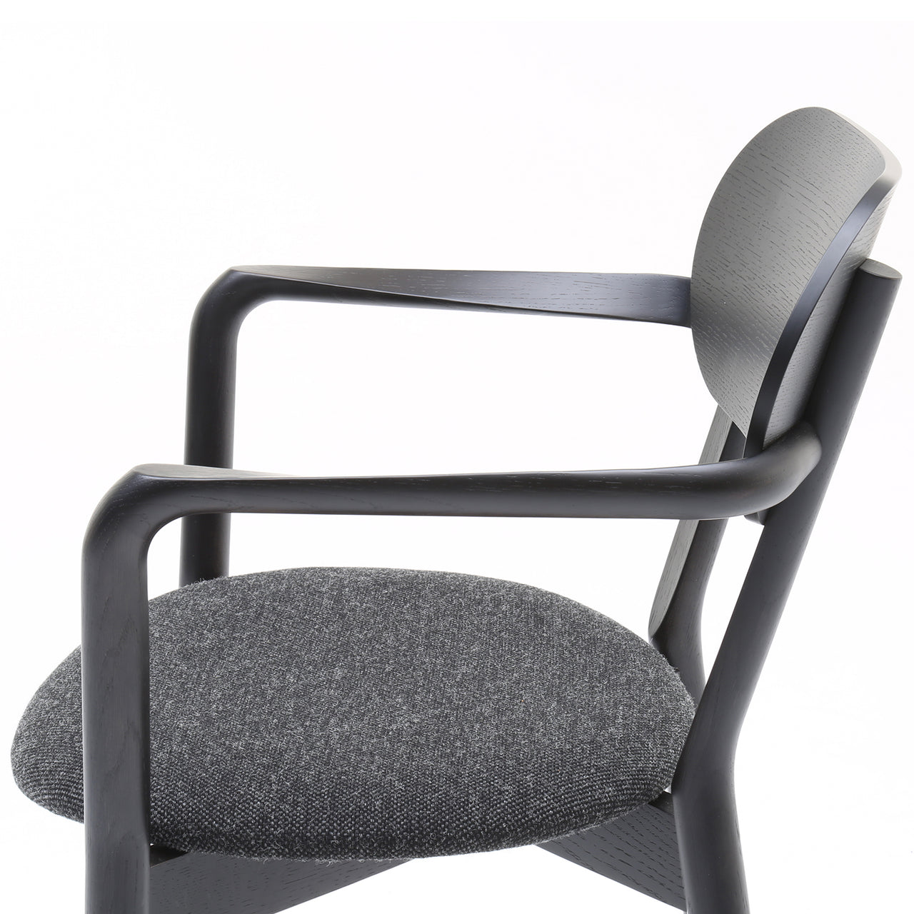 Castor Armchair Plus with Pad:Black Oak + With Pad