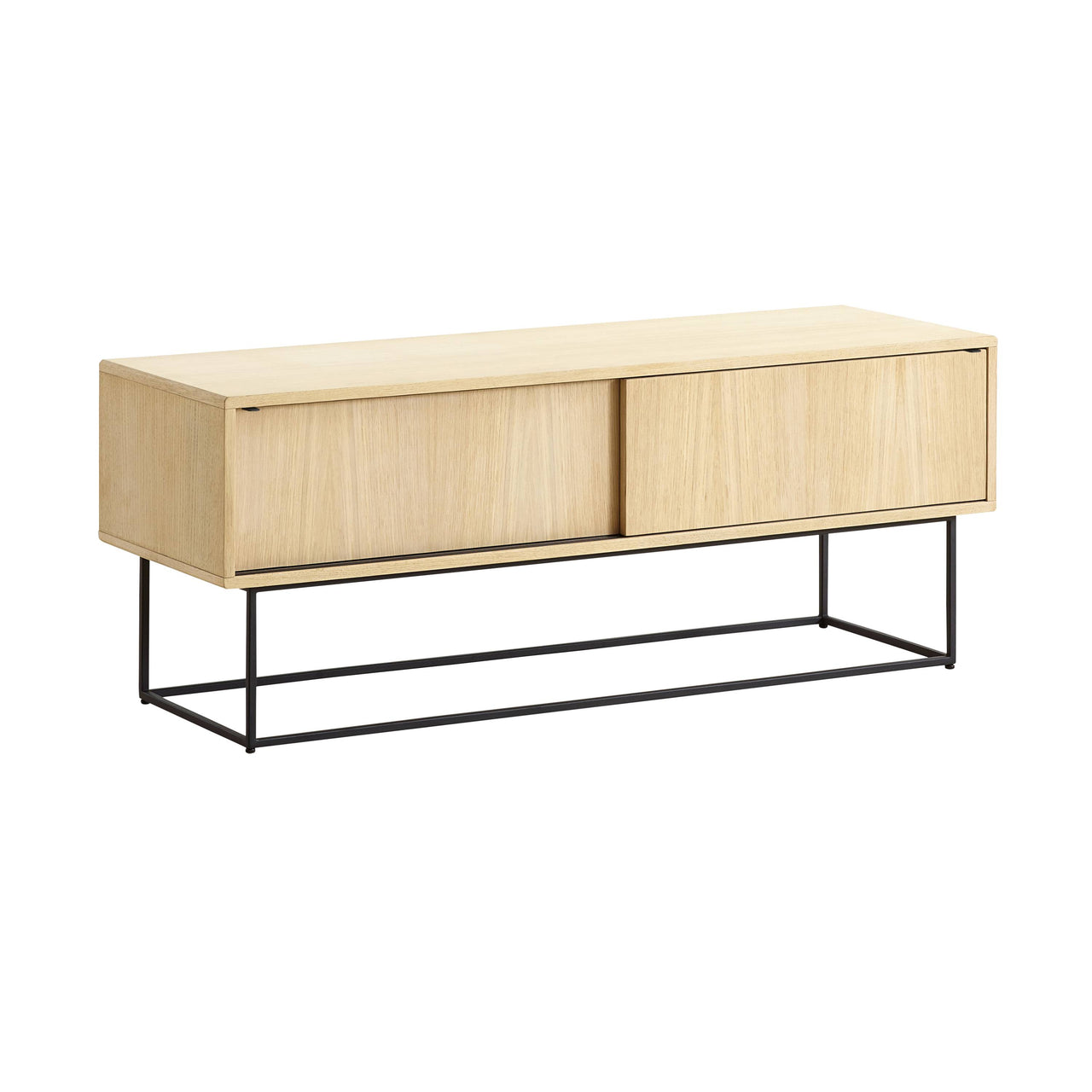 Virka Low Sideboard: White Oiled Oak
