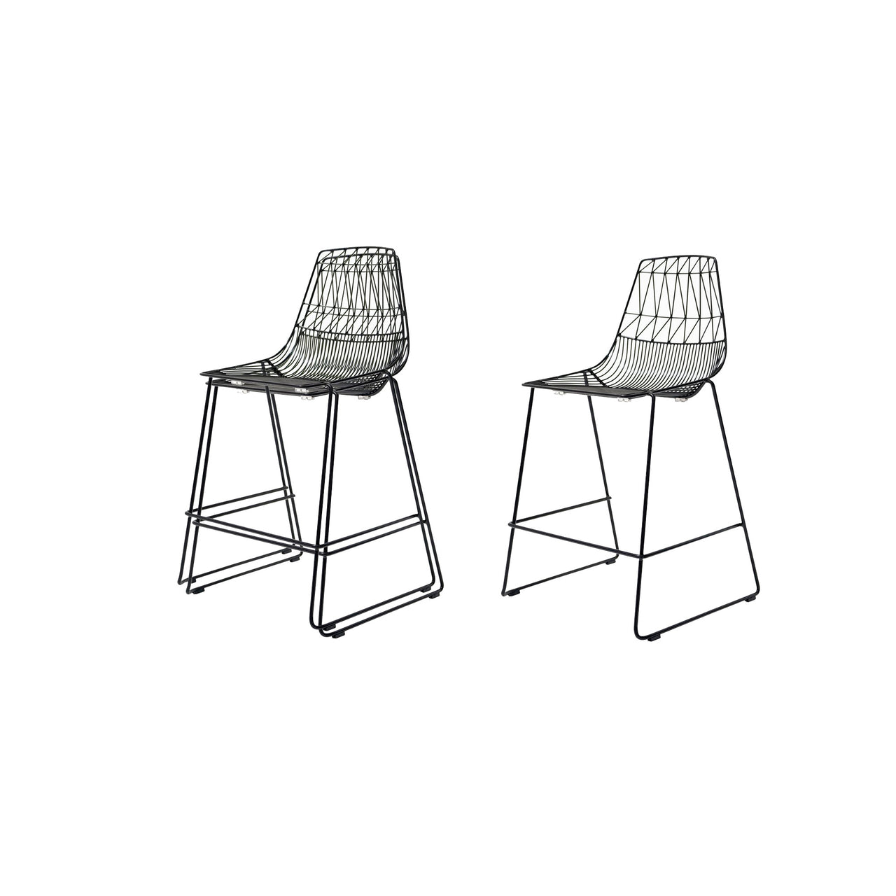Lucy Stacking Bar + Counter Stool: Counter + Black