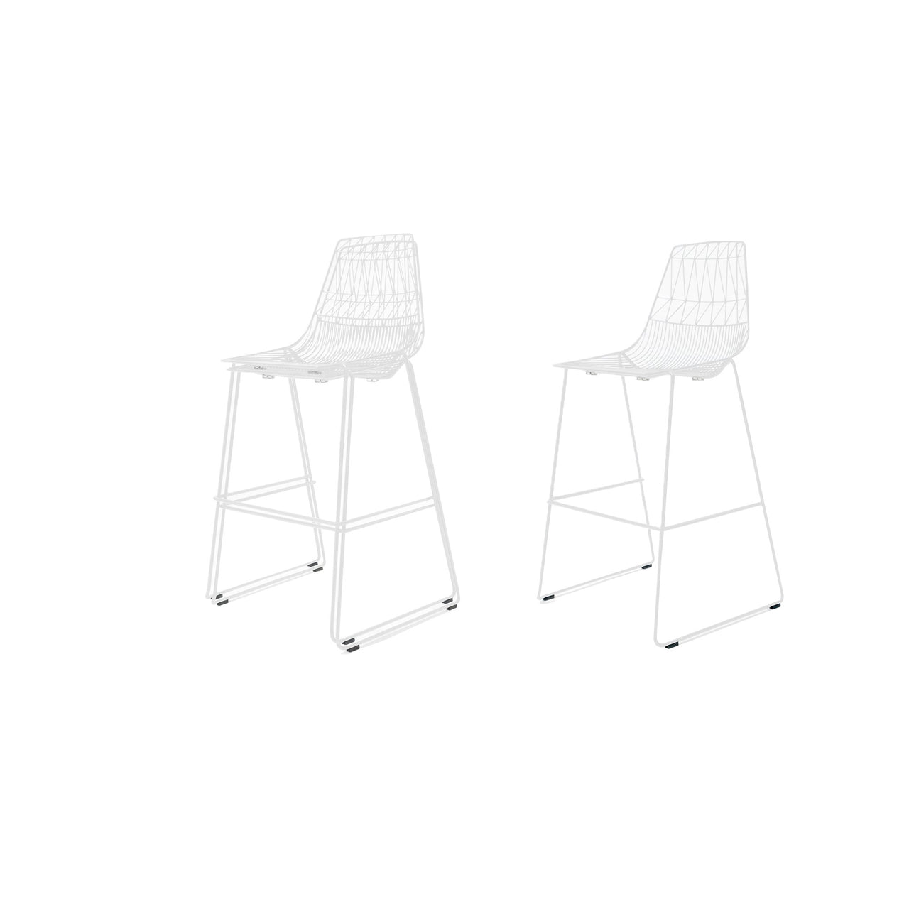 Lucy Stacking Bar + Counter Stool: Bar + White