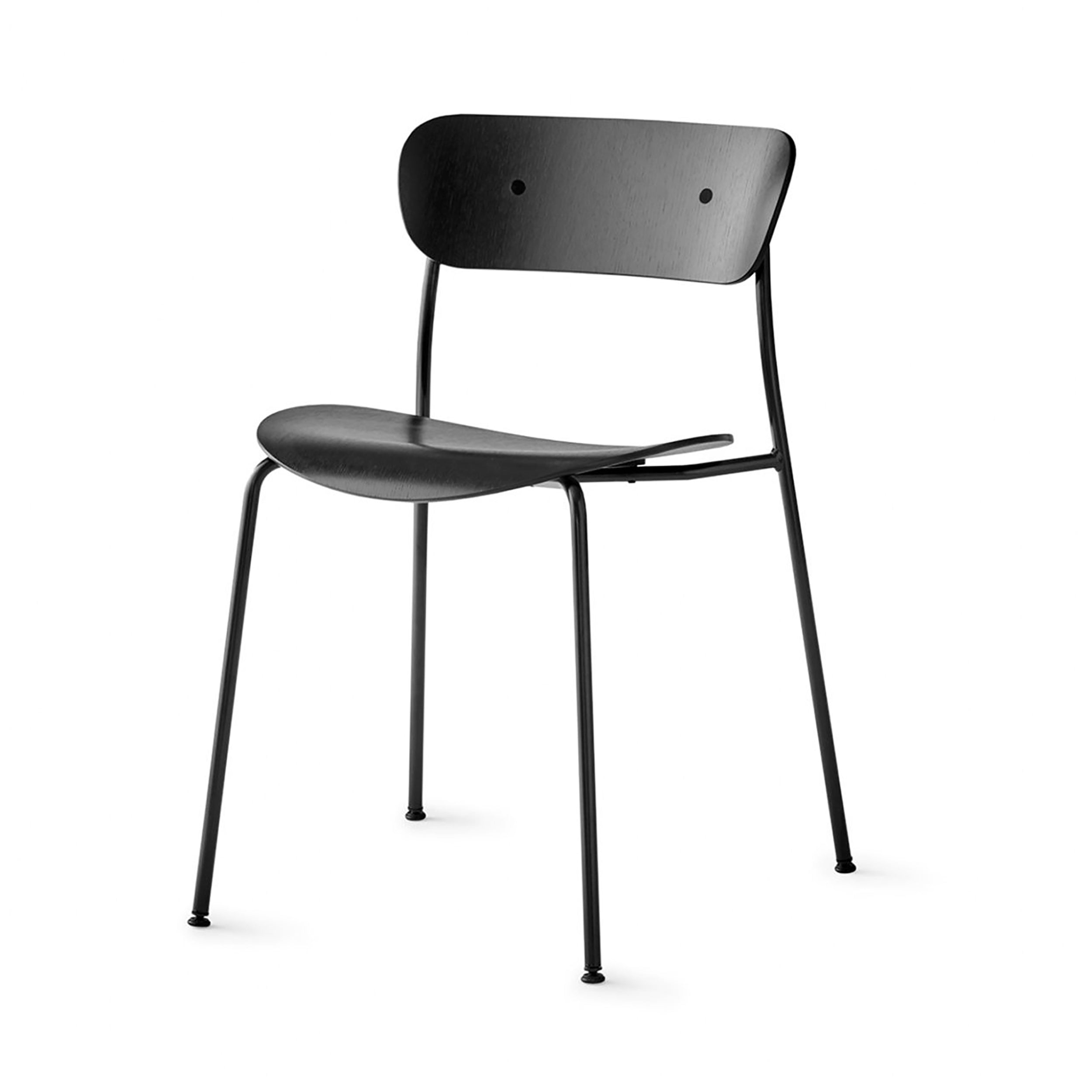 Pavilion Chair AV1: Black Lacquered Oak