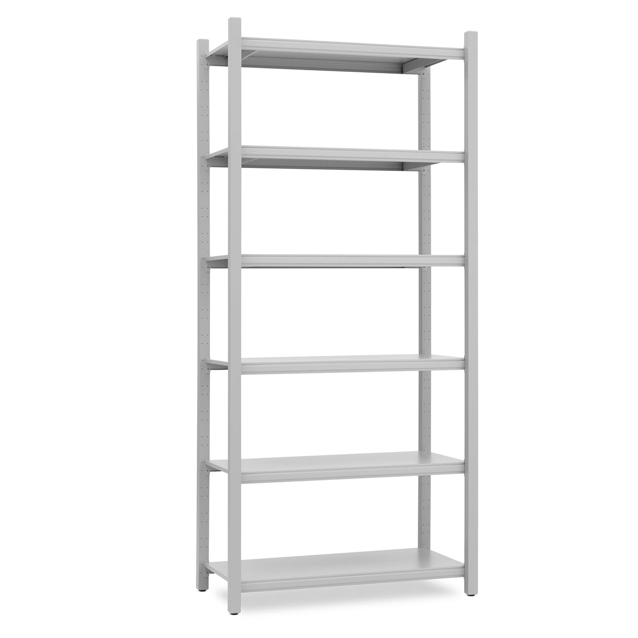 Work Bookcase: High + 4 Pillar + Grey