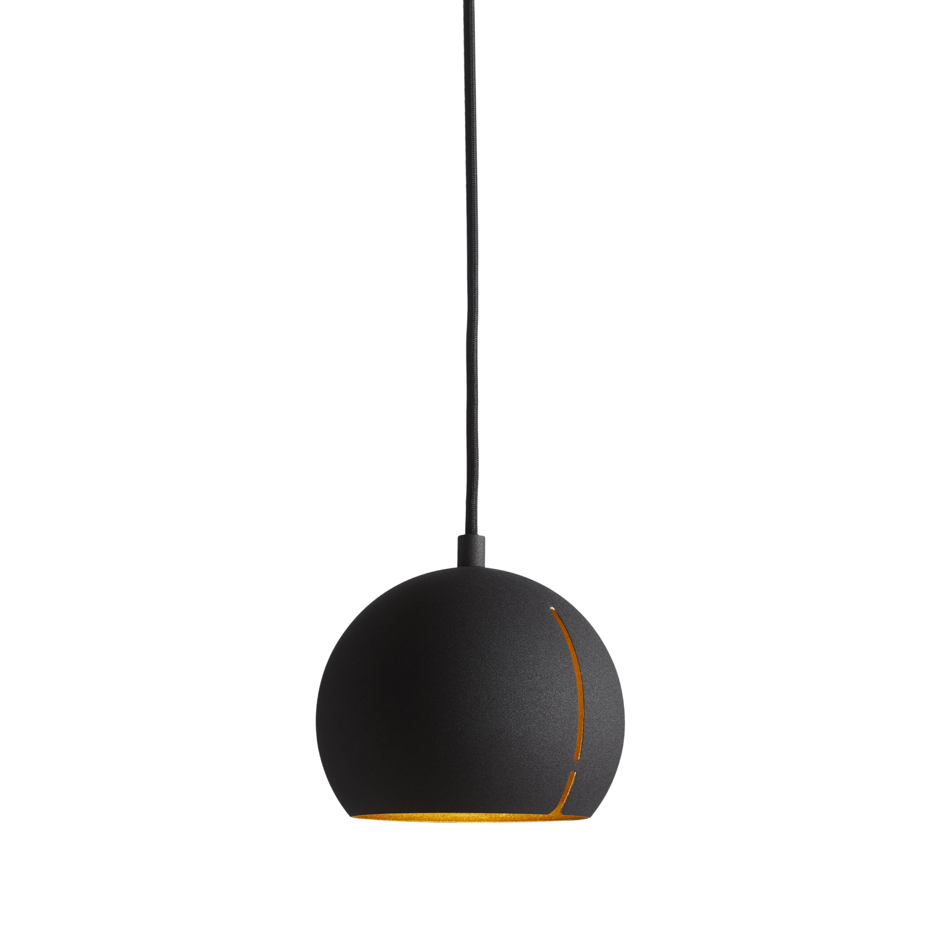 Gap Pendant Light: Round + Black
