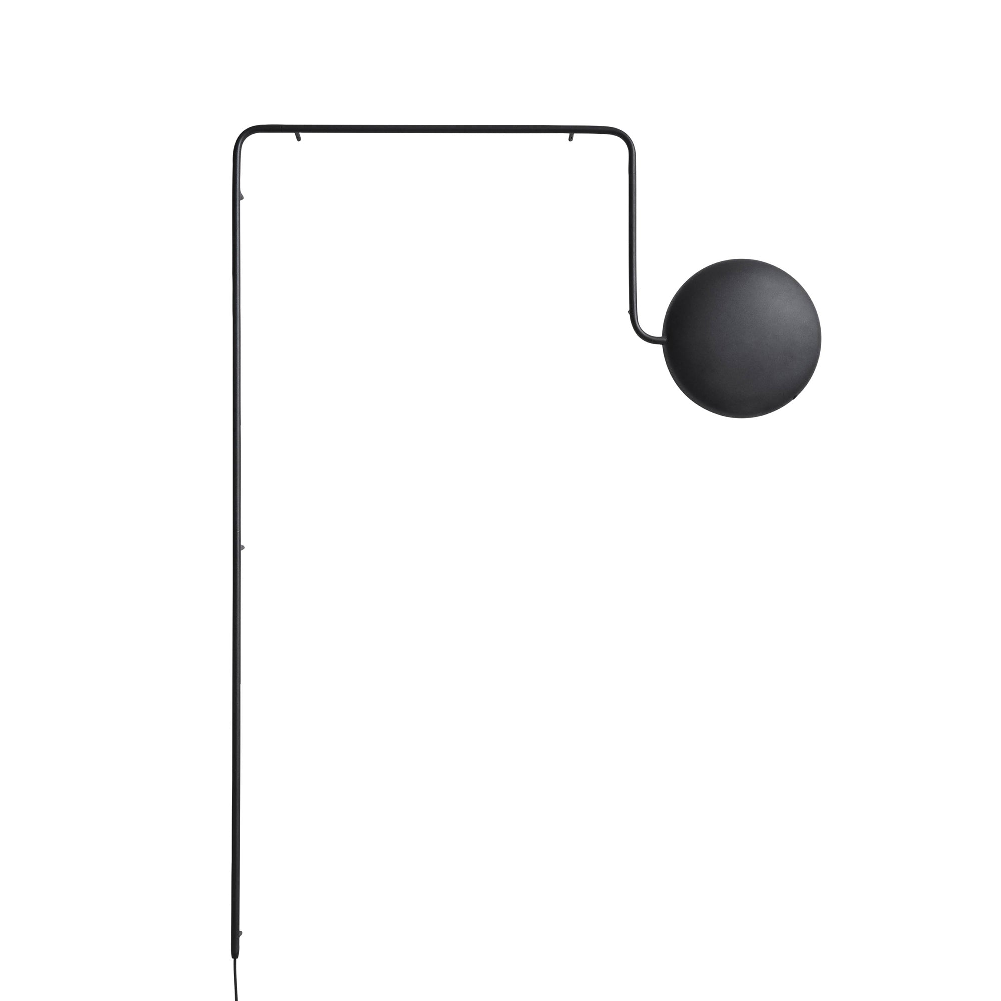 Mercury Wall Lamp: Black