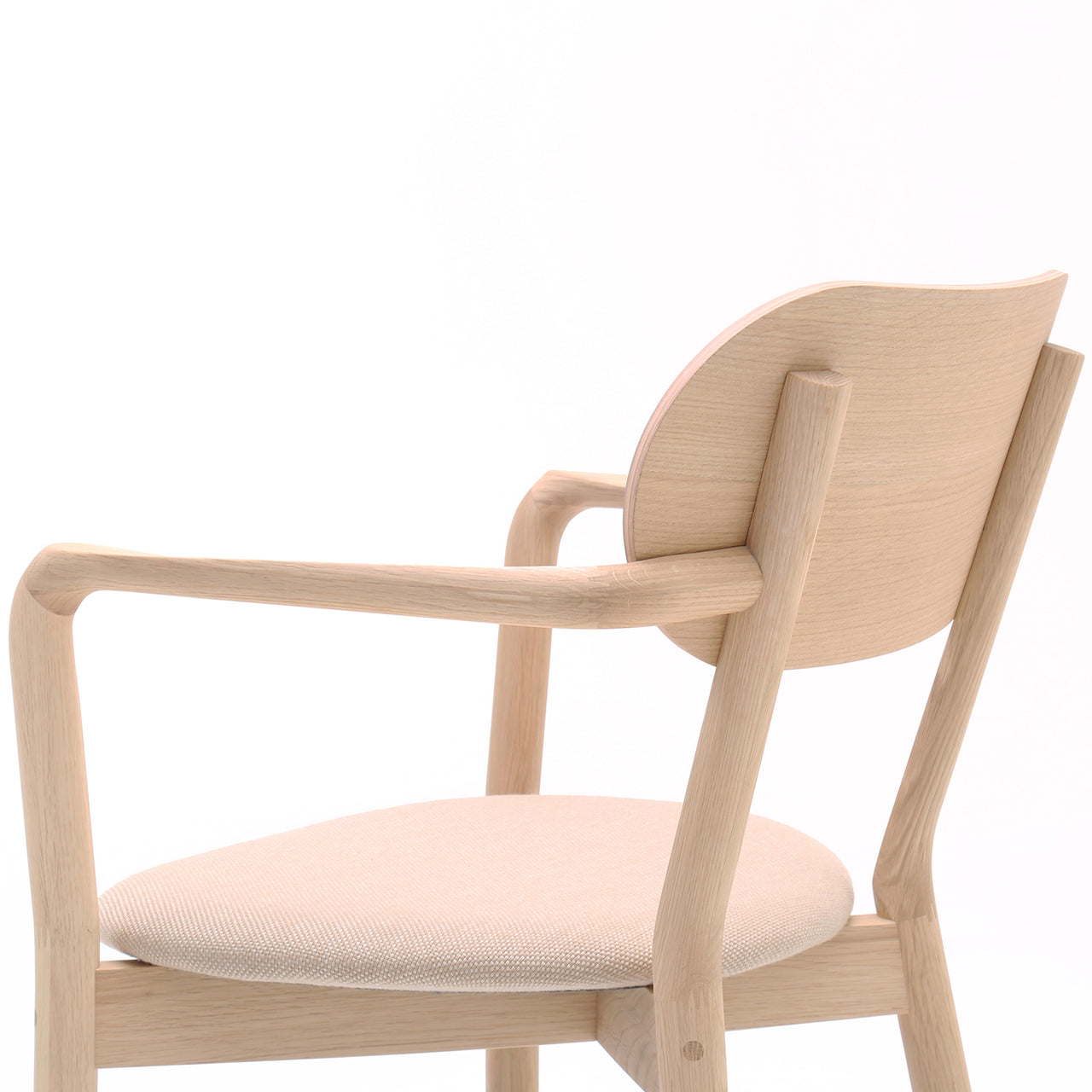 Castor Armchair Plus with Pad: Pure Oak + With Pad
