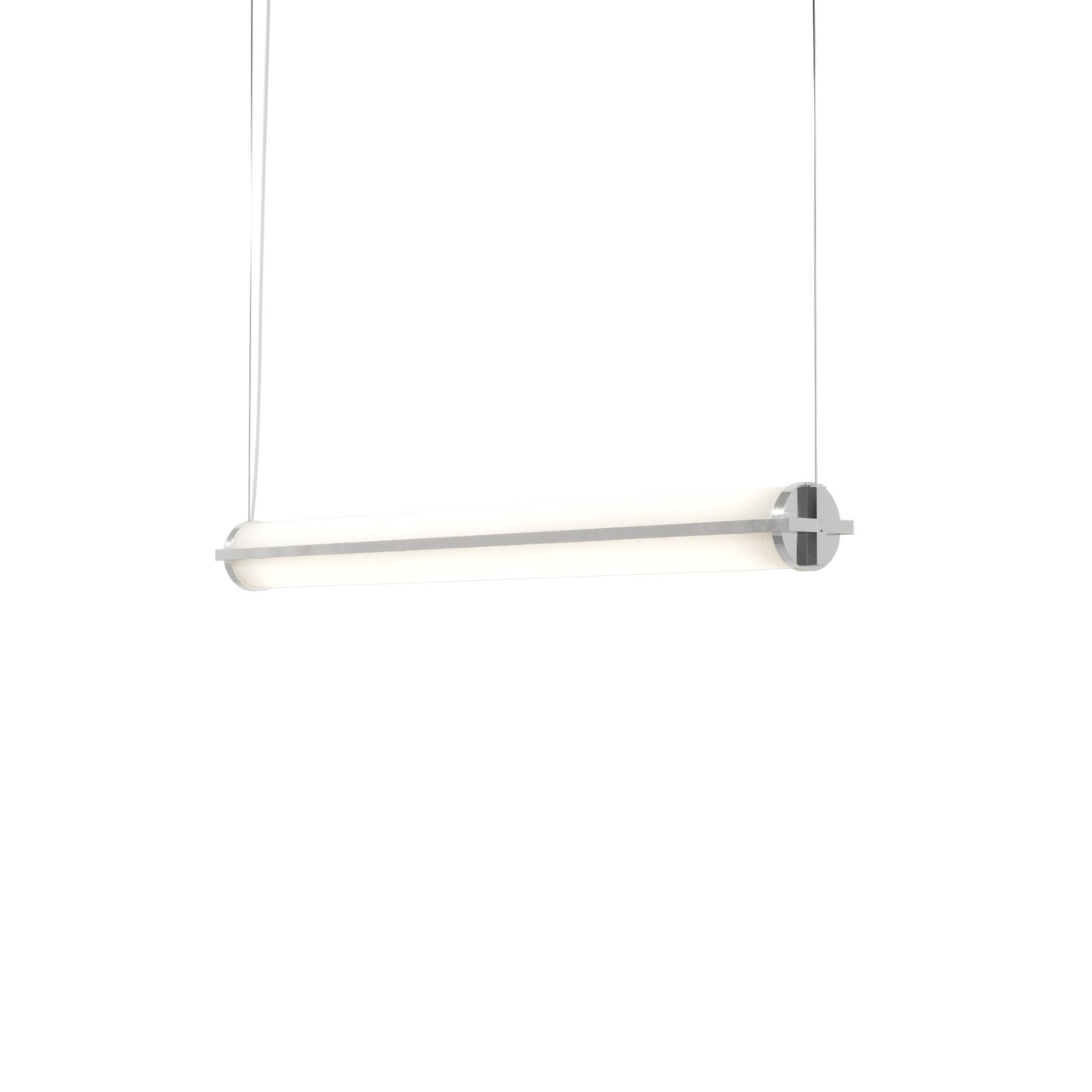 Metropolis Linear Suspension Light: Small + Polished Aluminum + No Mesh Diffuser