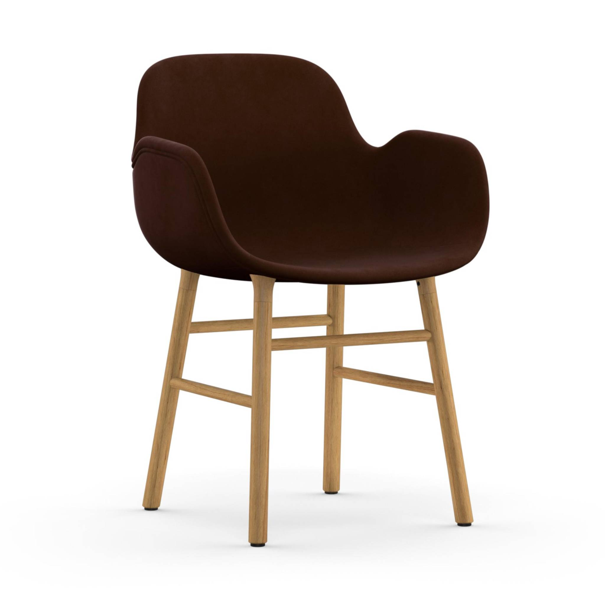 Form Armchair: Walnut or Oak Upholstered: Oak