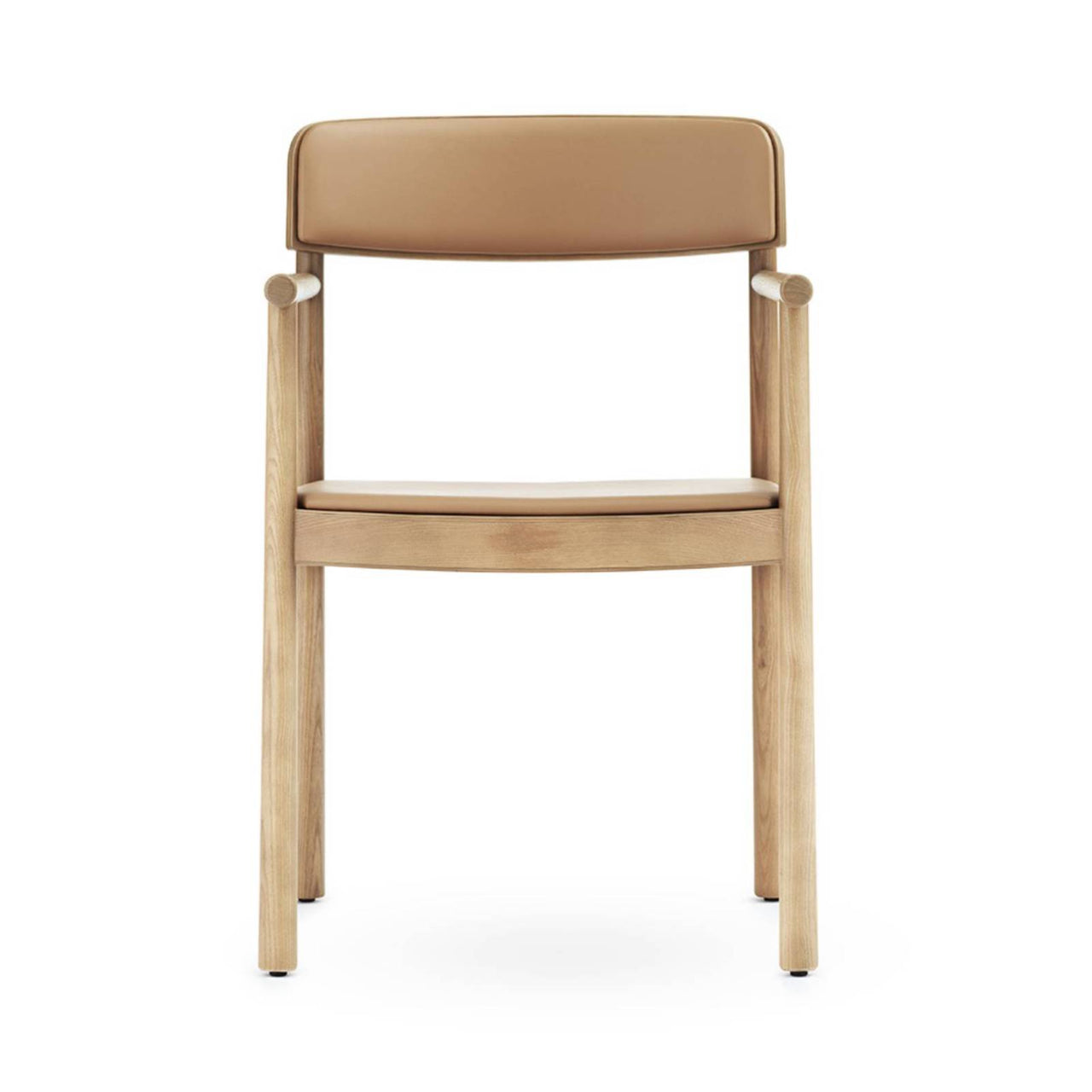 Timb Armchair Upholstery: Tan + Camel Leather