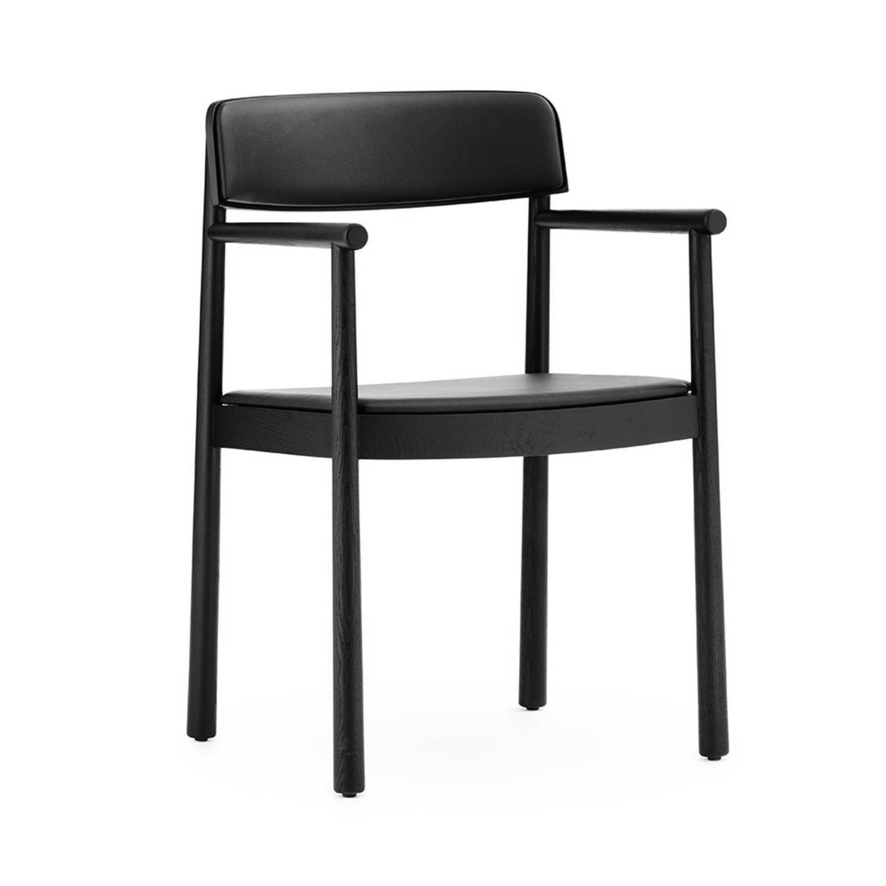 Timb Armchair Upholstery: Black + Black Leather