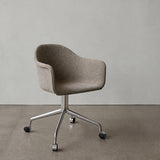 Harbour Swivel Chair With Casters: Upholstered