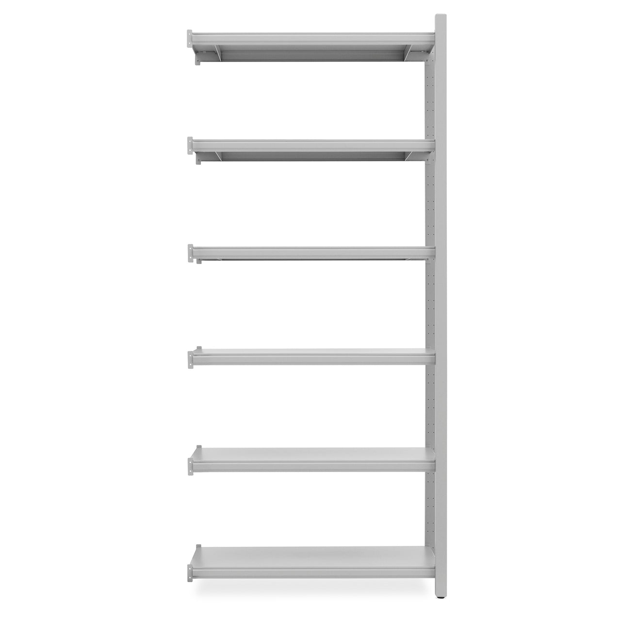 Work Bookcase: High + 2 Pillar + Grey