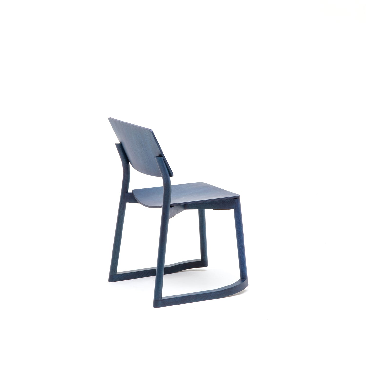 Panorama Chair With Runners: Indigo Blue Oak
