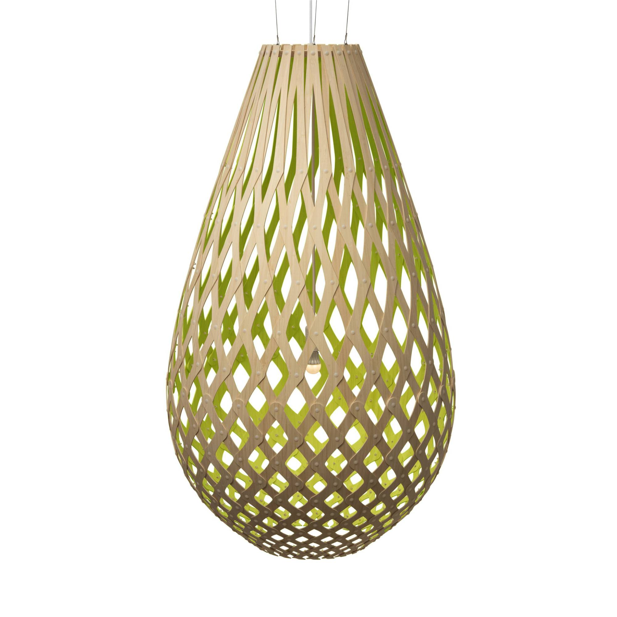 Koura Pendant Light: 1600 + Lime