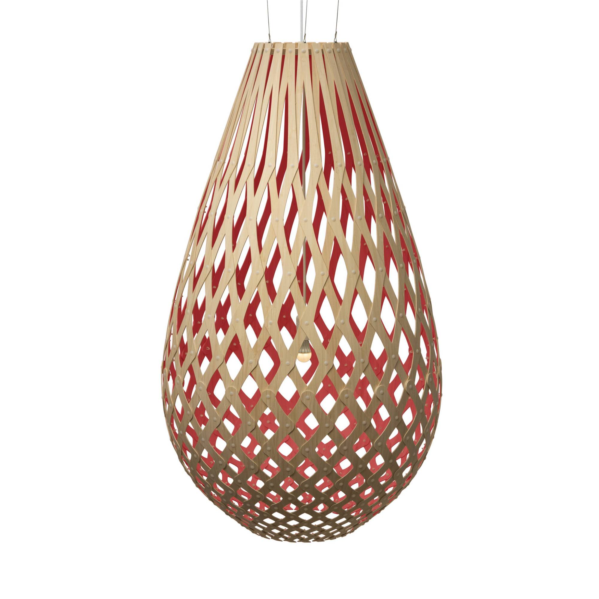 Koura Pendant Light: 1600 + Red